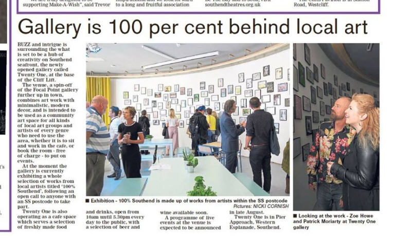 Echo-newspaper-article-about-Southend-art-exhibition
