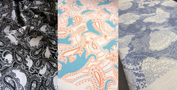 Paisley-Power-fabrics-designed-by-Patrick-Moriarty-including-rat-pattern-and-cat-pattern-and-butterfly-pattern