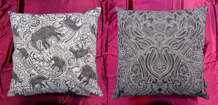 elephant-cushion-and-graphic-cushion-by-Paisley-Power