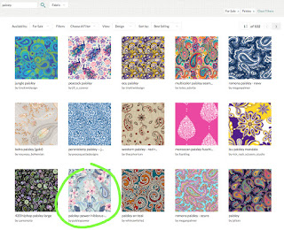 popular paisley designs at Spoonflower