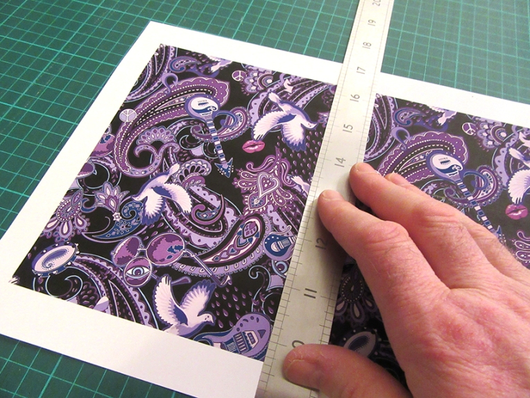 making-a-hand-made-greeting-card-with-Paisley-Prince-Songbook-artwork