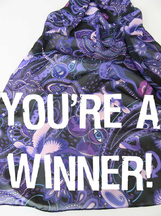 You're a winner! special announcement that the winners of the Paisley Prince Songbook competition have been announced.