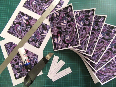 Paisley Prince Songbook notelets are carefully made by hand in Southend Essex by designer Patrick Moriarty.