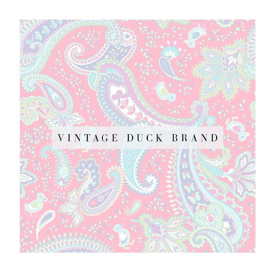 Vintage Duck Brand house paisley. The brand's signature paisley pattern was designed by Patrick Moriarty