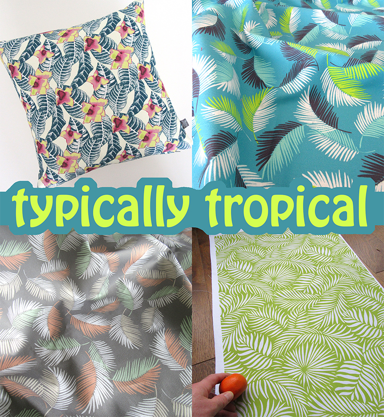 """""""Typically Tropical"""" A collection of tropical textile designs by Patrick Moriarty."""