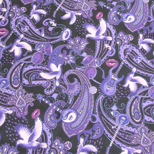 Paisley Prince Songbook fabric designed by Patrick Moriarty
