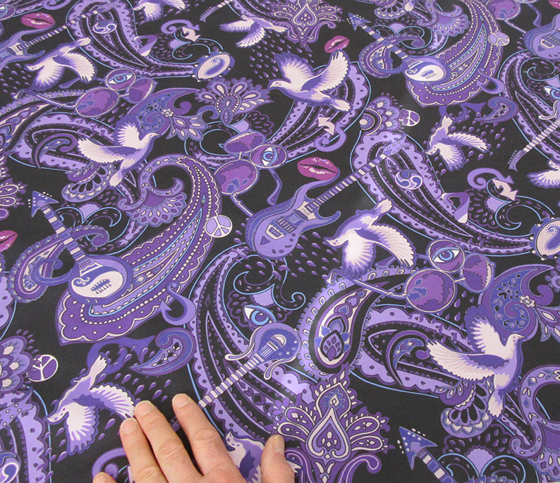 The large version of the Paisley Prince Songbook fabric