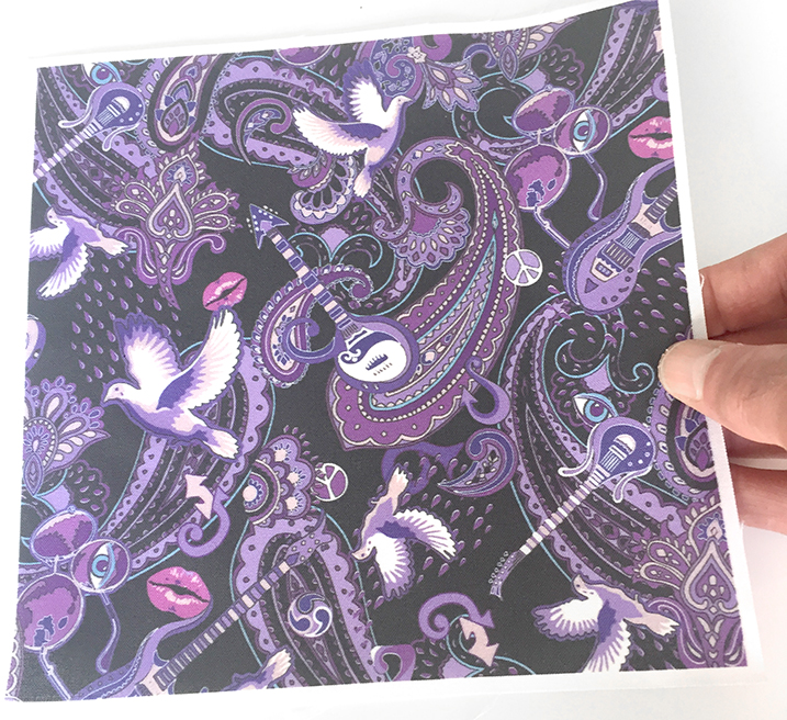 very small version of the Paisley Prince Songbook fabric