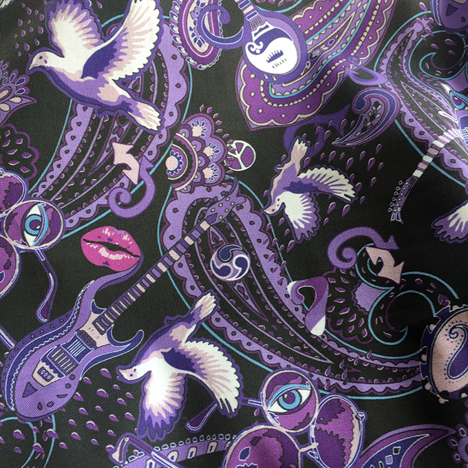 paisley prince songbook printed textile design (small version)