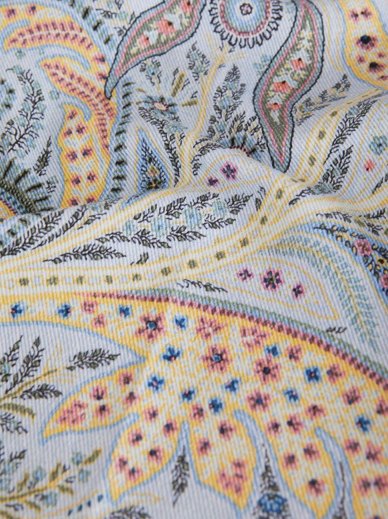 Etro paisley denim jean fabric