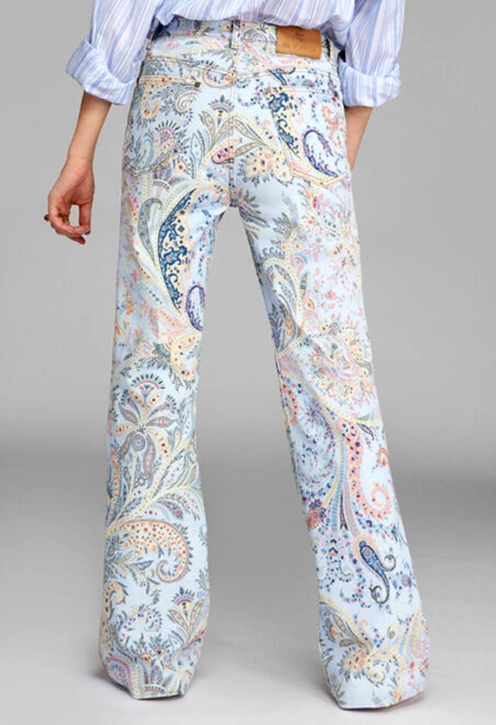 paisley denim jeans by famous Italian fashion brand Etro