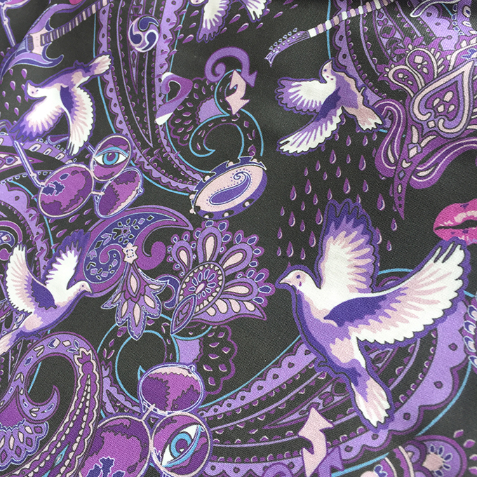 small version of Paisley Prince Songbook printed cotton