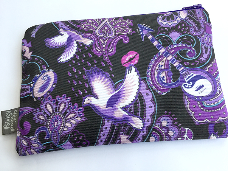 Paisley Prince Songbook personalized zipper cosmetic bag