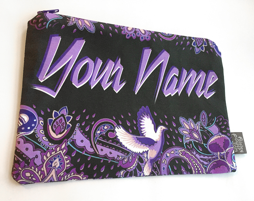 Paisley Prince Songbook personalized zip bag