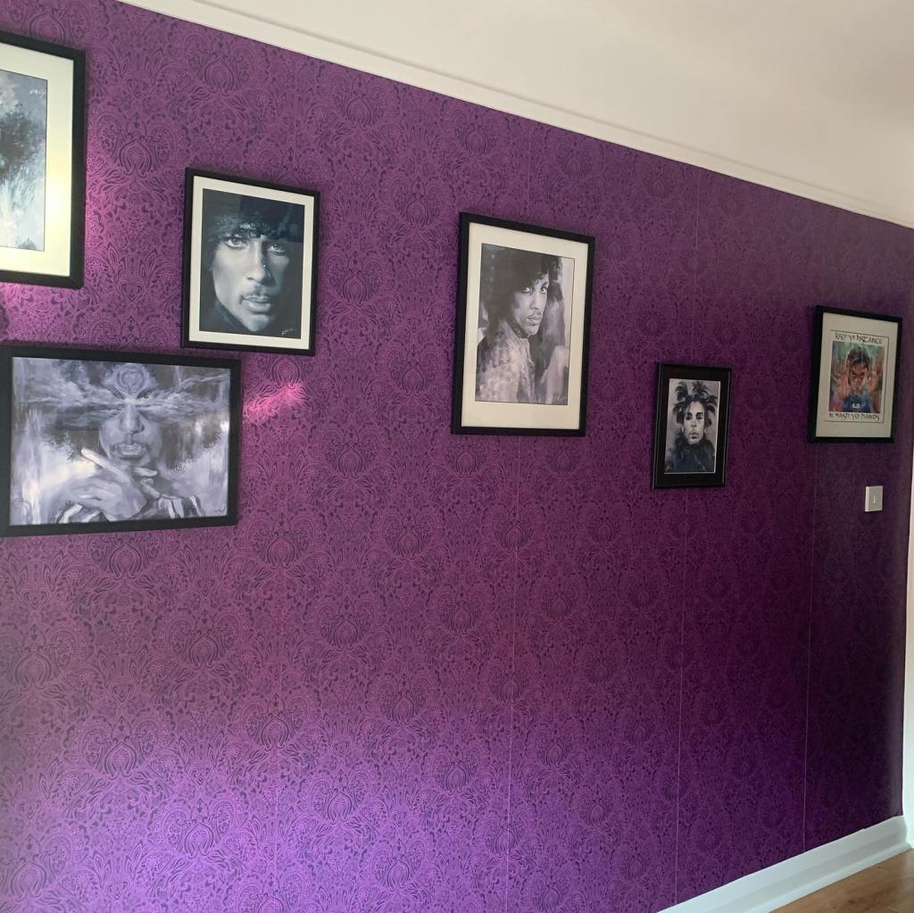 """Jeannie Gilding's """"Prince"""" room in Cheshire UK"""