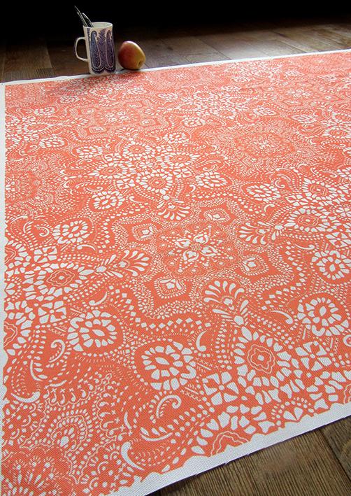 mosaic-bandana-textile-design-orange-white