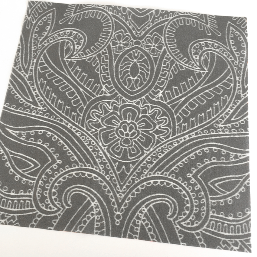 The dark grey version of Paisley Lace Outline printed fabric